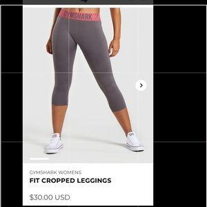 Grey gymshark cropped leggings